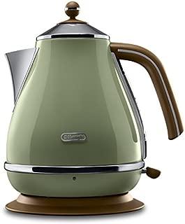 delonghi 德龍 電熱水壺 KBO2001.VGR 橄欖綠 (Icona復古清新系列/ 1.7升大容量/ 2000瓦大功率/ )