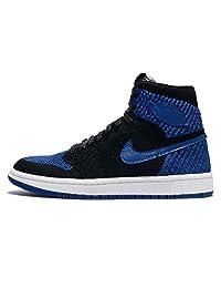 Nike 耐克 Air Jordan 1 复古高飞织物 BG 篮球运动鞋 919702 运动鞋 Black/Game Royal-white 3.5 M US 儿童