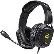 游戲耳機 Xbox One 耳機,PS4 耳機,帶降噪麥克風和 LED 燈的電腦耳機,游戲耳機,適用于 PC,PS4,Xbox One 控制器(不含適配器),Nintendo Switch,Mac