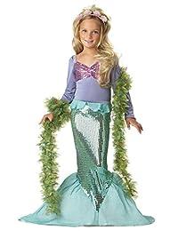 Newland 小美人鱼公主美人鱼公主装扮华丽派对女孩亮片连衣裙