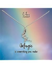 """Lily Charmed 英国设计师品牌""""奇迹由你创造"""" 魔法精灵 手工打造 40cm 925银 女士项链 CNSFY41"""