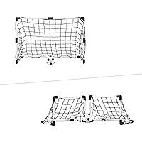 Sport Squad 迷你二合一双用训练足球球门网套装