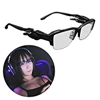 Bauhutte 游戏眼镜 黑色 蓝光切割 BGG-01-BK