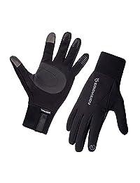 Opard 冬季手套女士男士触摸屏保暖羊毛防水自行车驾驶