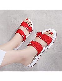 FOLOMI 时尚拖鞋女鞋沙滩鞋皮鞋码33-40码 亲子鞋 童鞋 女鞋