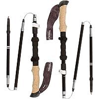 Trekology TREK-Z 户外登山杖 115厘米-135厘米;超轻伸缩手杖;五节杖;人体工程学拐杖;折叠铝合金;徒步手杖;爬山装备