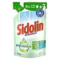 Sidolin Pro Nature pH 中性玻璃清洁剂 Nachfüllpack 1x Nachfüller 250ml