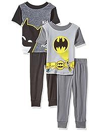 BATMAN DC Comics 幼儿男孩4件套棉质睡衣套装