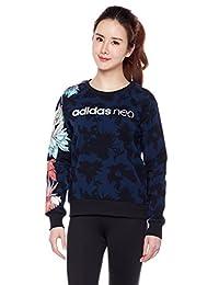 adidas NEO 阿迪达斯运动生活 女式 NEO 卫衣 CV7380 学院藏青蓝/白 W VDAY SWTSHIRT