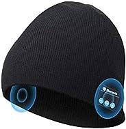 EverPlus 蓝牙无檐小便帽,送给男士、女士的礼物,带无线蓝牙5.0,冬季帽内置可拆卸高清立体声扬声器和麦克风,中性款音乐无檐小便帽,适合户外运动