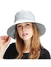 黑色HORN 轻质可收纳女士宽边遮阳渔夫帽