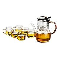 尚言坊 飘逸杯耐热玻璃过滤泡茶壶防爆裂茶杯冲茶器SDP447-8(供应商直送)