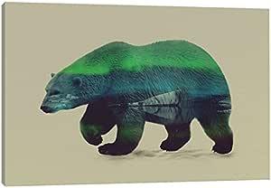icanvasart 北浅适用于 polar Bear 油画印刷品