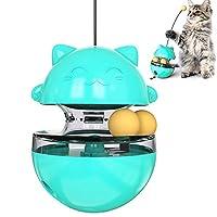 CEESC 猫咪玩具平底杯,猫咪食物分配智商球追逐玩吃慢食喂食器趣味猫棒玩具猫猫咪锻炼互动游戏