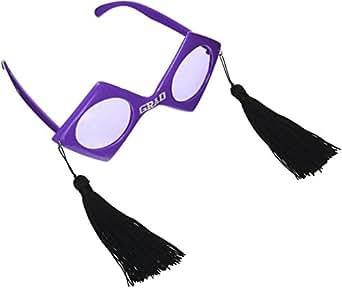 Graduation Purple Fanci Frame Glasses Purple/Black/White 均码