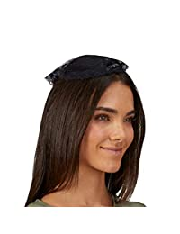 Needzo Chapel Veils Catholic 女式黑色帽子发饰,10 英寸