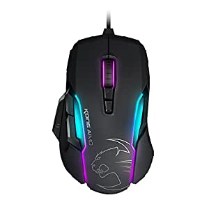 ROCCAT 冰豹 KONE AIMO RGBA 智能自定义游戏鼠标 黑色