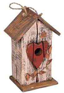 花园装饰 HT08561C 鸟舍,12.5 英寸,奶油色