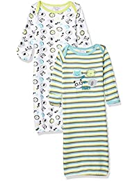 Quiltex 男孩幼儿动物朋友睡袍 2 件套