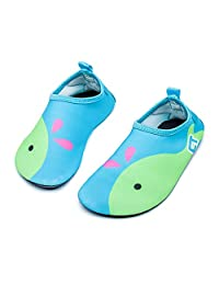 adorllya 儿童男孩女孩幼儿水上 SHOES 赤脚浅绿色短袜 SHOES for 沙滩泳池冲浪 Light Blue Dolphin 3-4 M 美国幼儿