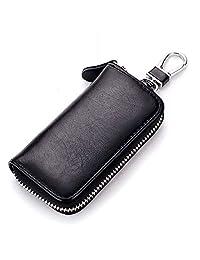 KjhSaa 新款复古 钥匙包 真皮 腰挂男士 汽车锁匙包 外贸 牛皮多功能 卡包