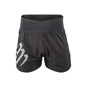Compressport 男士 无衬裤 跑步短裤 轻量外裤 遮羞裤 搭配紧身裤使用  CS-SHTRO-99-T1 黑色 S (两种LOGO款式随机发放)