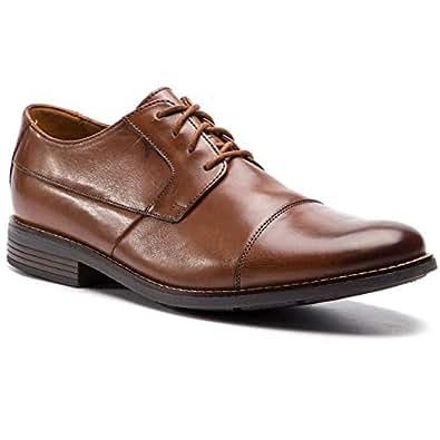 Clarks 男 正装鞋 261231387060 棕褐色 39.5  Becken Cap/贝肯横饰