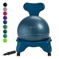 Gaiam 经典平衡球椅 - 锻炼稳定瑜伽球高级人体工程学椅子适用于家庭和办公桌,带气泵,锻炼指南和满意*
