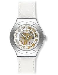 Swatch Women's Irony YAS109 White Leather Swiss Automatic Fashion Watch