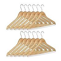 relaxdays 衣架套装木制裤子 hangers 服装 hangers 带旋转钩高 X 3.81cm 宽22.5X 44.5CM 天然各种套装