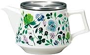 Narumi 鳴海 Anna Emilia系列 四葉草花園 茶壺 綠色 630ml 可微波爐加熱、洗碗機使用 日本制 51854-33174