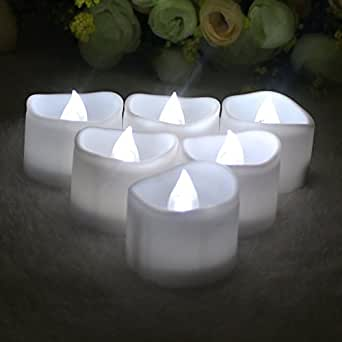 Goswot 浪漫暖白色闪烁无焰蜡烛适用于感恩节情人节婚礼纪念日 Pack of 24 DFEG-2