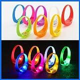 TDL - 品牌声控发光LED手镯儿童派对套装 - 42个手镯,7种不同颜色 - 对音乐节拍和噪音做出反应 LED 闪光