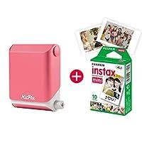 KiiPix 照片打印机 智能 兼容即时照片打印机 带富士胶片 Instax Mini Starterpapapapapapazeruid图像E72871