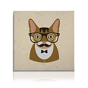 indie 动物系列动物油画智能鹿墙画适用于客厅教室墙壁艺术画家居装饰