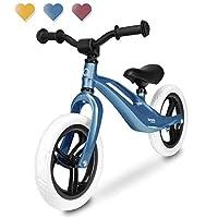 Lionelo Bart 自行车平衡自行车 18个月至30千克,镁框架免维护 12 英寸 Eva 车轮和马鞍高度可调脚踏 超轻 24 Monate 蓝色