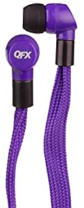 QFX H-107PR/PUR Shoelace Earphones, Purple