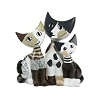 Goebel Arte Grafica Wachmeister 猫,瓷器,多色,14.5x11.5x15.5厘米