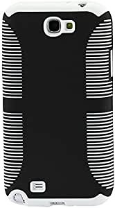 Reiko Zebra Protector Cover Pc Plus Tpu for Samsung Galaxy Note II N7100 - Retail Packaging 黑色/白色