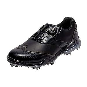本间高尔夫 HONMA 男士 尖头 菱形鞋 黑色/黑色 26cm 3E SS-1603 原产国:中国 材质:鞋面(人造皮革)、鞋底(EVA海绵/TPU)