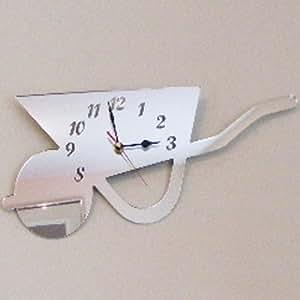 Super Cool Creations 40 x 25 厘米亚克力轮形镜面时钟,银色