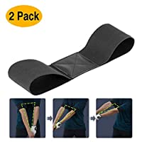 Strailboard Golf Training Aids,Golf Smooth Swing Training Golf Training Aids Swing Motion Correction Belt Training Arm Band for Golf Beginner Golf Accessories 2 Pack