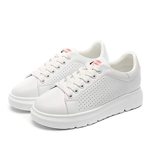 Wilindun 35-39码春夏时尚街拍百搭内增高小白鞋女鞋休闲洞洞鞋