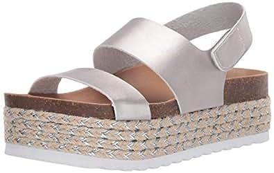 Dirty Laundry 女士 Peyton Espadrille 坡跟凉鞋 银色金属 9.5 M US