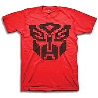 Transformers AUTOBOTS 8位标志男式红色 T 恤