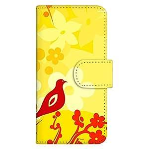 智能手机壳 手册式 对应全部机型 印刷手册 wn-414top 套 手册 鸟类设计 UV印刷 壳WN-PR061420-MX AQUOS Xx2 502SH B款