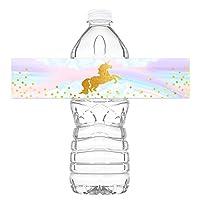 魔法独角兽奶瓶包装 - 20 只独角兽水瓶标签 - 独角兽彩虹装饰品 - 美国制造