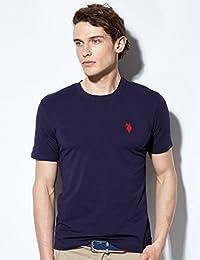 【美国大牌清仓】U.S. POLO男士圆领T恤 薄款短袖男 简约休闲T恤男上衣