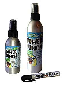Power Punch All Natural Insect Repellent Spray Bottle Bundle, Clear