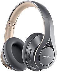 Mpow 059 专业蓝牙耳机头戴式,60 小时播放时间,无线蓝牙5.0耳机带高保真立体声,蛋白质耳垫耳机带麦克风,适用于儿童,成人,旅行,办公室,在线课堂